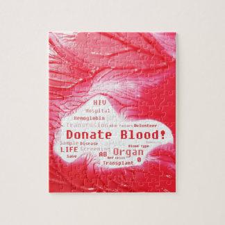 Donate blood concept design jigsaw puzzle