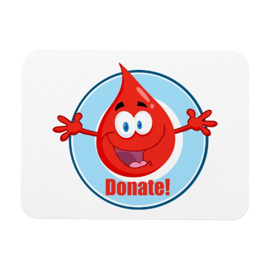 Donate Blood Rectangular Photo Magnet