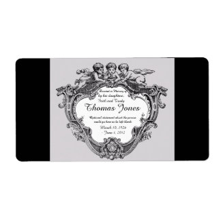 Donated in Memory of Bookplate .. Shipping Label