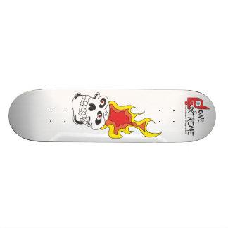 Done In Extreme Flaming Skull Skateboard