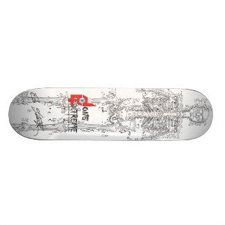 Done In Extreme Melting Skeleton Skateboard