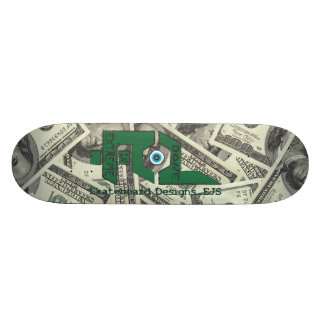 Done In Extreme Money Deck 21.6 Cm Old School Skateboard Deck
