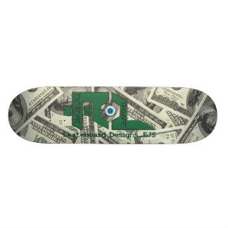 Done In Extreme Money Deck 21.6 Cm Old School Skateboard Deck