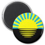 Donetsk Oblast, Ukraine flag Fridge Magnet