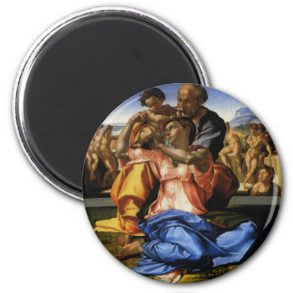 Doni Tondo or Doni Madonna by Michelangelo Refrigerator Magnet