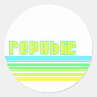 Donincan Republic Classic Round Sticker