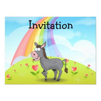 Donkey 17 Cm X 22 Cm Invitation Card