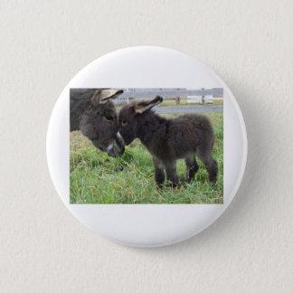 donkey 6 cm round badge