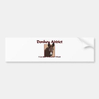 Donkey Addict Bumper Sticker