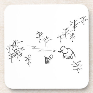 donkey and elephant look at flying insect coaster