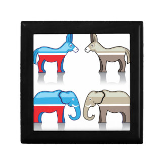Donkey and Elephant Political Parties Gift Box