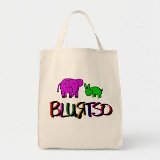 donkey and elephant tote bag