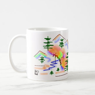donkey and rainbow coffee mug