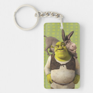 Donkey And Shrek Double-Sided Rectangular Acrylic Key Ring