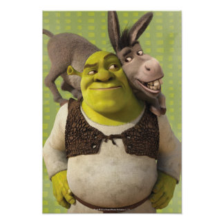 Donkey And Shrek Poster
