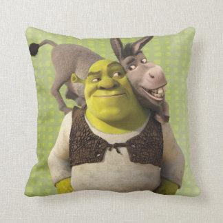 Donkey And Shrek Throw Pillow