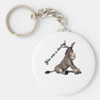 Donkey Basic Round Button Key Ring