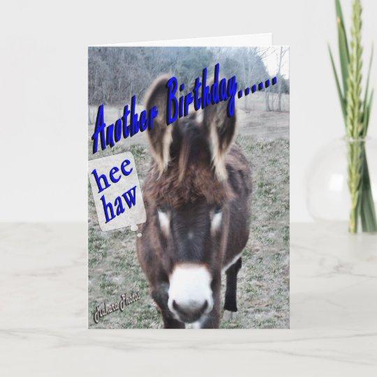 Donkey Birthday Customise It Card Zazzle