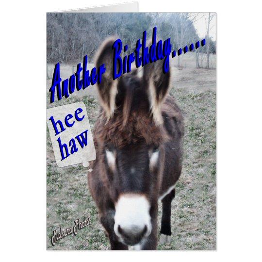 Donkey Birthday-customise it Card