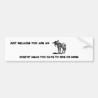 Donkey Bumper Sticker