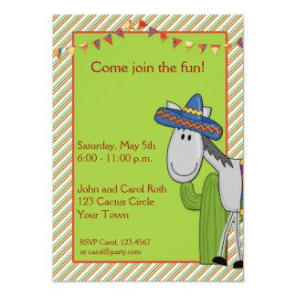 Donkey Cactus Fiesta Invitation