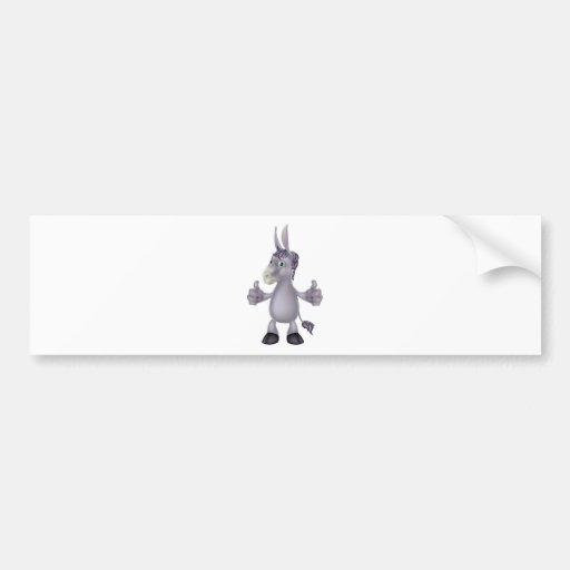 Donkey cartoon bumper sticker