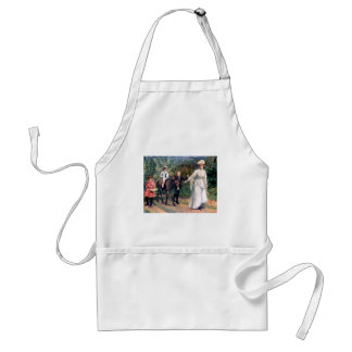 Donkey Children Mother Antique painting Adult Apron