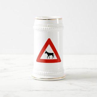 Donkey Crossing (1), Sign, Netherlands Antilles Beer Steins