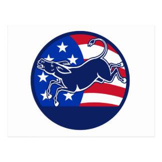 Donkey Democrat Flag Postcard