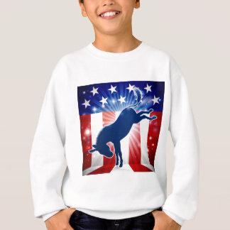Donkey Democrat Political Mascot Kicking Sweatshirt