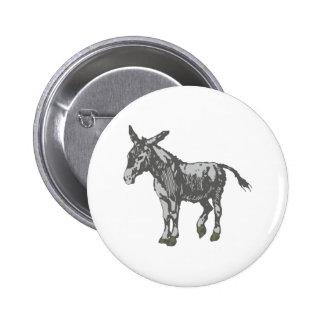 Donkey donkey 6 cm round badge