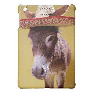 Donkey (Equus hemonius) wearing straw hat iPad Mini Covers