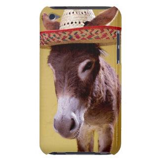 Donkey (Equus hemonius) wearing straw hat iPod Touch Cover