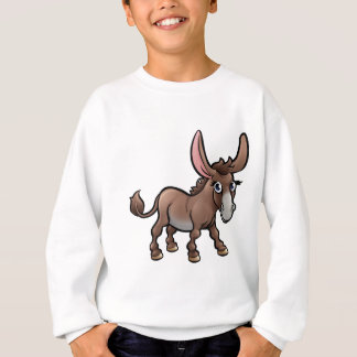 Donkey Farm Animals Cartoon Character Sweatshirt