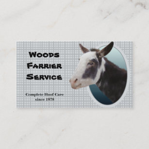 Farrier business cards business card printing zazzle uk donkey farrier business card colourmoves