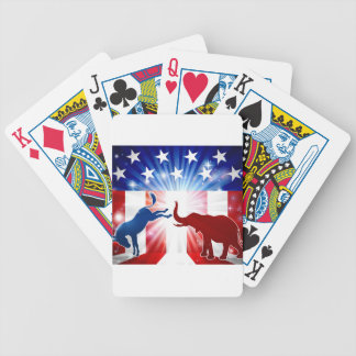 Donkey Fighting Elephant Silhouettes Bicycle Playing Cards