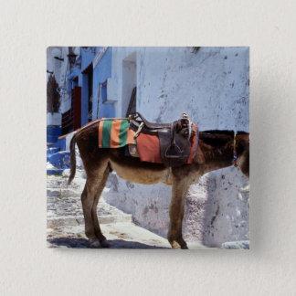 Donkey, Fira Santorini, Greece 15 Cm Square Badge