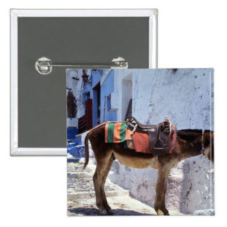 Donkey, Fira Santorini, Greece 15 Cm Square Badge