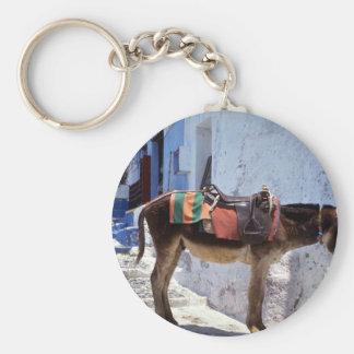 Donkey, Fira Santorini, Greece Key Ring