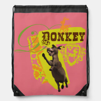 Donkey Graphic Drawstring Bag