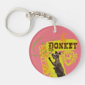 Donkey Graphic Key Ring