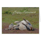Donkey happy retirement card