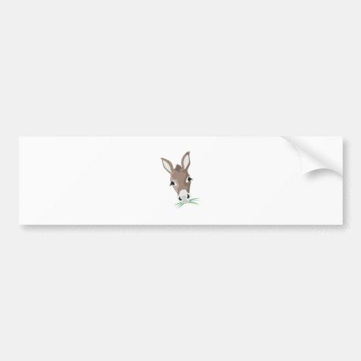 Donkey Head Bumper Stickers