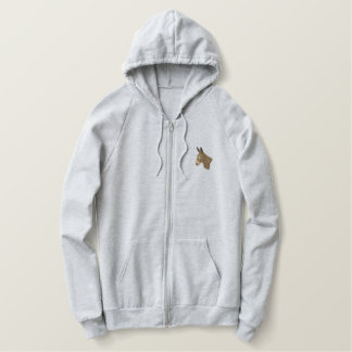 Donkey Head Embroidered Hoodie