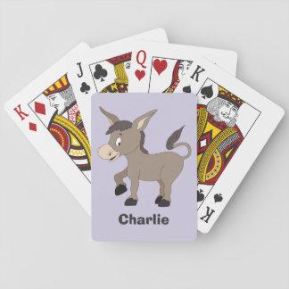 Donkey illustration custom name playing cards