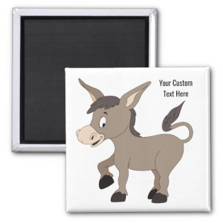 Donkey illustration custom text magnet