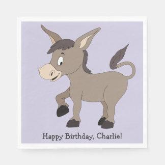 Donkey illustration custom text paper napkins paper napkin