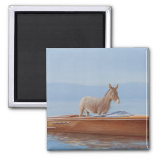 Donkey in a Riva 2010 Magnet