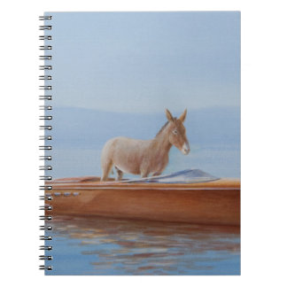 Donkey in a Riva 2010 Spiral Notebook