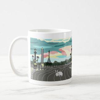 donkey in Paris Basic White Mug
